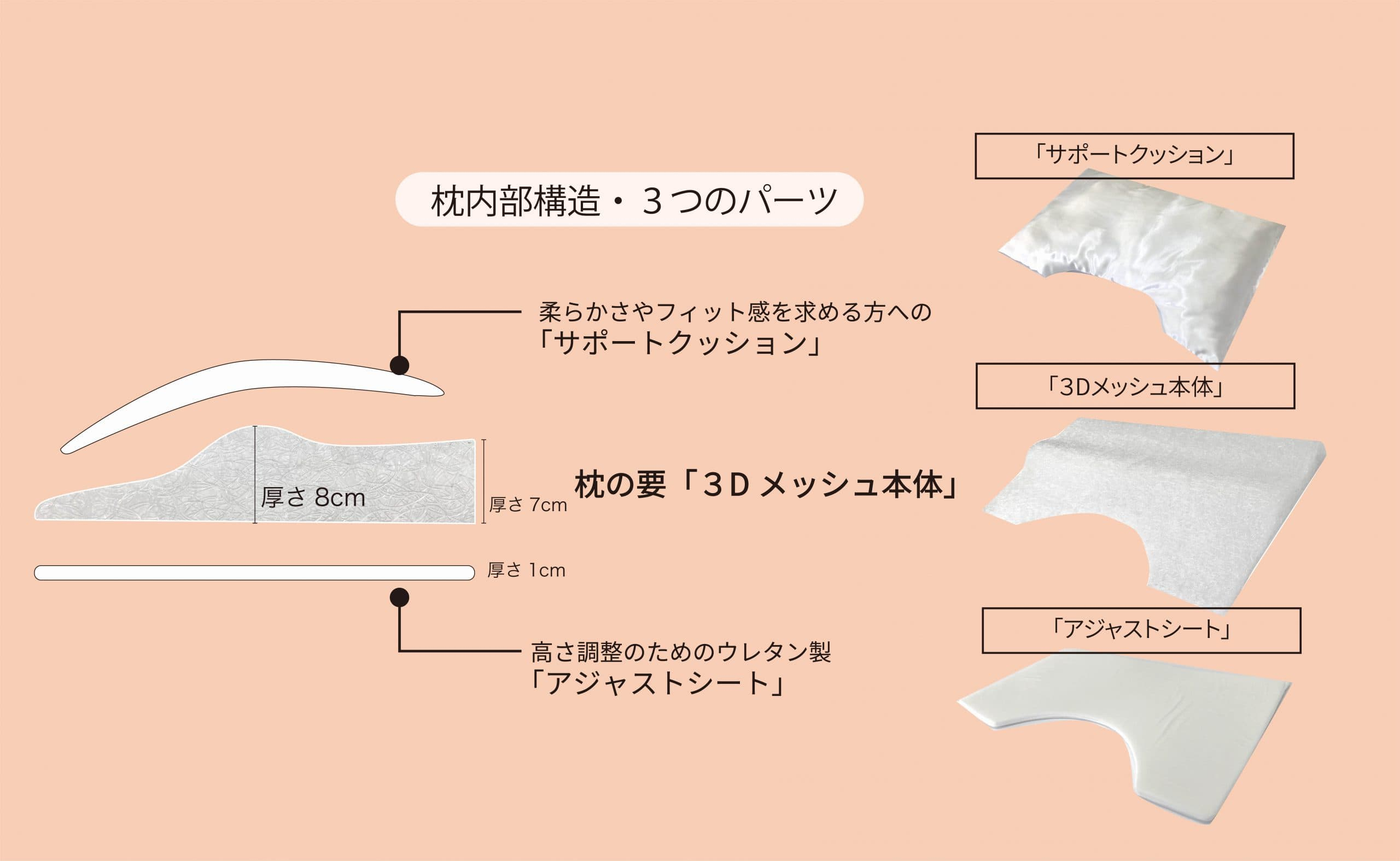 日本人の体型・体格・湾曲を知り尽くして生まれた「3D構造」